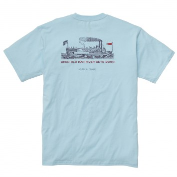 Old Man River: Sky Blue Short Sleeve